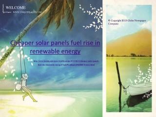 Jakarta Management - Cheaper solar panels