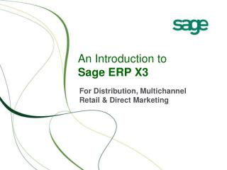 An Introduction to Sage ERP X3