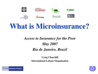 What is Microinsurance?