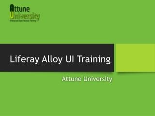 Liferay Alloy UI Training