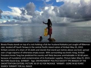 Kiribati, gone in 60 years