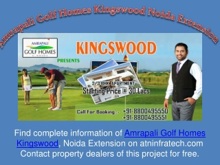 2 and 3 BHK Flats in Amrapali Kingswood Noida Extension