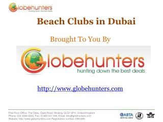 Best Beach Clubs in Dubai