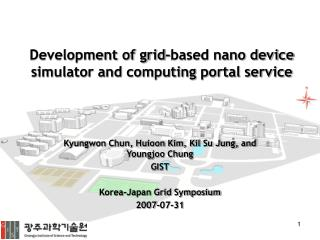 Development of grid-based nano device simulator and computing portal service
