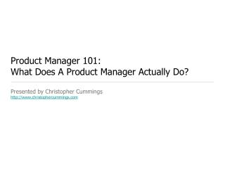 Product Manager 101: What Does A Product Manager Actually Do