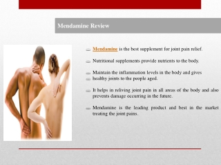 Mendamine is the leading product