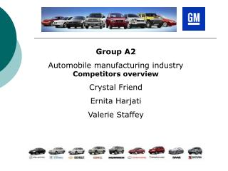 Group A2  Automobile manufacturing industry  Competitors overview Crystal Friend Ernita Harjati Valerie Staffey