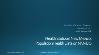 Health Status of New Mexico 2010