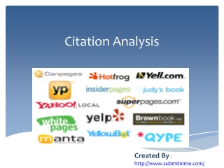 Citation Analysis - Basics