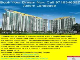 dlf capital greens phase 1 l dlf capital greens apartments phase 1 l prices list l floor plans