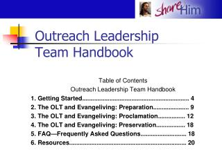 Outreach Leadership Team Handbook