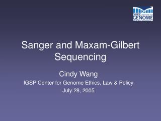 Sanger and Maxam-Gilbert Sequencing