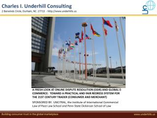 SPONSORED BY:  UNCITRAL, the Institute of International Commercial Law of Pace Law School and Penn State Dickinson Schoo
