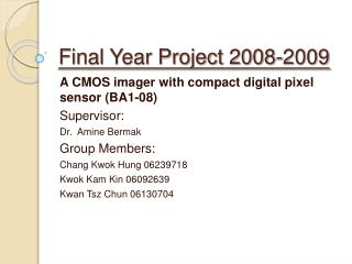 Final Year Project 2008-2009
