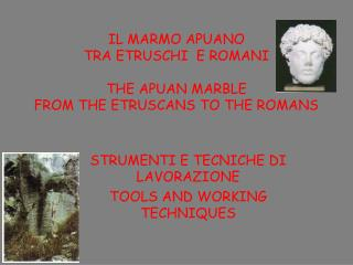 IL MARMO APUANO  TRA ETRUSCHI  E ROMANI THE APUAN MARBLE FROM THE ETRUSCANS TO THE ROMANS