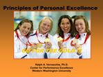 Principles of Personal Excellence