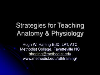 Strategies for Teaching Anatomy & Physiology