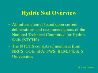Hydric Soil Overview