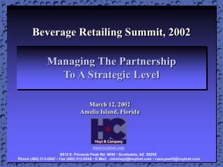 Managing The Partnership  To A Strategic Level