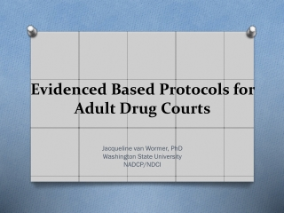 Evidenced Based Protocols for Adult Drug Courts