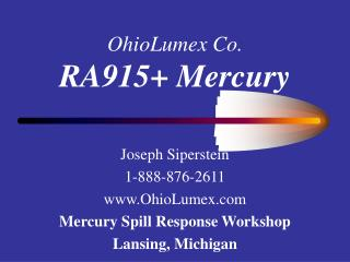 OhioLumex Co. RA915+ Mercury