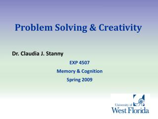Problem Solving & Creativity