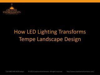 How LED Lighting Transforms Tempe Landscape Design