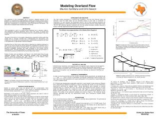 Modeling Overland Flow Mauricio Santillana and Clint Dawson