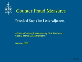Counter Fraud Measures