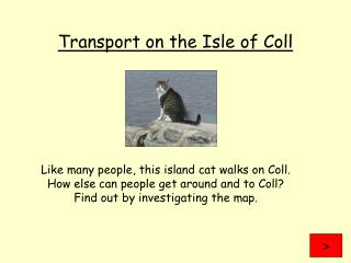 Transport on the Isle of Coll