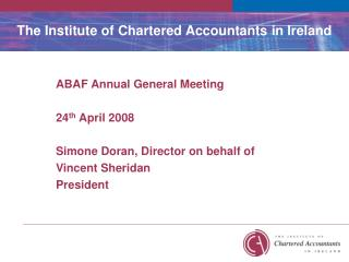 The Institute of Chartered Accountants in Ireland