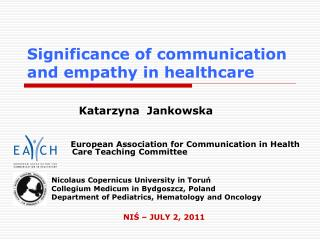 Significance of communication and empathy in healthcare