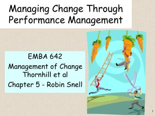 Managing Change Through Performance Management