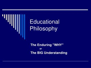personal educational philosophy