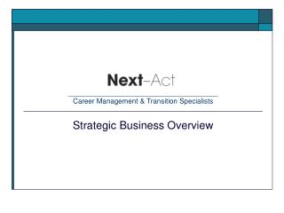 ______________________________________ Career Management  Transition Specialists