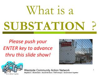 What is a SUBSTATION ?