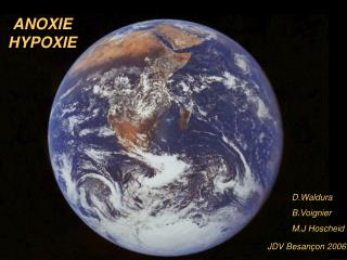 ANOXIE HYPOXIE