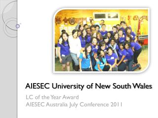 aiesec unsw lc of the year award application