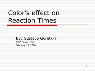 Color's effect on Reaction Times
