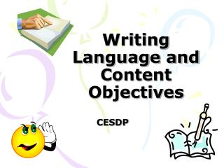 Writing Language and Content Objectives