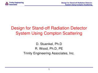 Design for Stand-off Radiation Detector System Using Compton Scattering