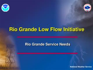 Rio Grande Low Flow Initiative