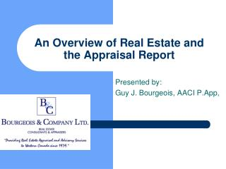 An Overview of Real Estate and the Appraisal Report