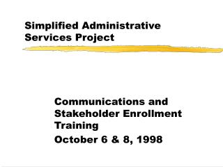 Simplified Administrative Services Project
