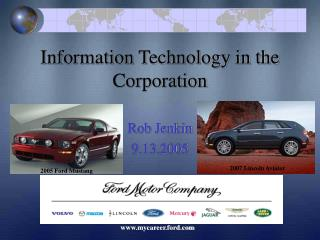Information Technology in the Corporation