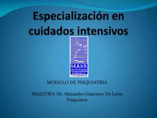 Especialización en cuidados intensivos