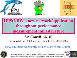IEPM-BW a new network/application throughput performance measurement infrastructure