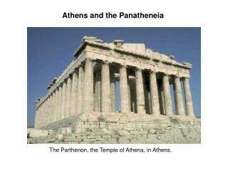 Athens and the Panatheneia