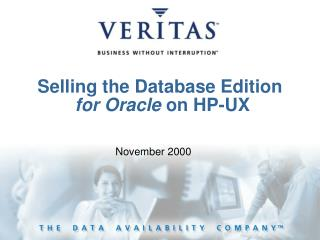 Selling the Database Edition for Oracle  on HP-UX