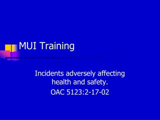 MUI Training